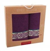 Komplet ręczników dwuczęściowy 70x140 + 50x90 wz. K15 Fiolet