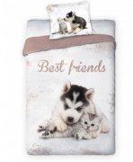 Pościel licencyjna 100% bawełna 160x200 lub 140x200 BEST FRIENDS 002