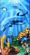 Ręcznik plażowy wz. Podwodny Świat 04 - rozmiar 70x148