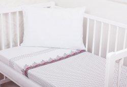 Pościel dziecięca  do łóżeczka dzianinowa 100x135 wz. Luksja 227 CZ