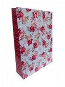 Ozdobne opakowanie, torebka na prezent 26x32 wz. Flower 008