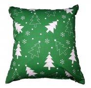 Poszewka na jasiek wz. Choinki zielone, rozmiar 40x40 100% bawełna ŚWIĄTECZNE WZORY