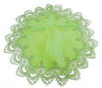 Obrus gipiura 60 cm koło wz. 8139 Kolor: Zielony