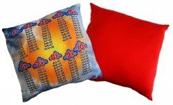 Poduszka matematyczna 40x40 wz. 03/czerwony