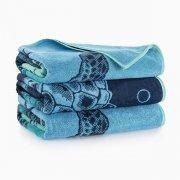 Ręcznik plażowy ŻÓŁWIE niebieskie - rozmiar 100x160