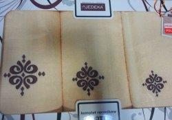 Komplet ręczników 3 częściowy Jedeka wz 16 ciemny beż