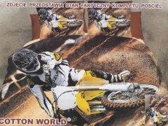 Pościel Mikrowłókno 3D MOTO roz. 160x200 lub 140x200wz. FPW 154