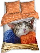 Pościel młodzieżowa 100% bawełna 160x200 lub 140x200 - Kotek wz. NL183045