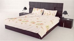 Pościel bawełna satynowa 160x200 - wz. Narcyz Oranż