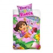 Pościel licencyjna 100% bawełna 160x200 - Dora poznaje świat