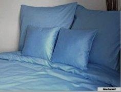 Poszewka na poduszki 50x60 satyna zapięcie na zamek ANDROPOL wz. niebieski 009