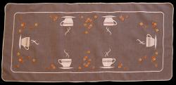Obrus Haftowany Bruna 03-2A 150x300 cm kolor: brązowy