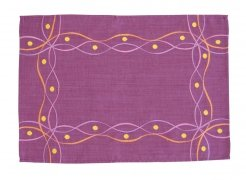 Obrus Haftowany Bruna 58-1 33x170 cm kolor: fioletowy