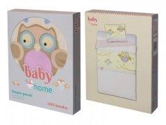 Pościel dziecięca licencyjna do łóżeczka 100x135 Baby Home - wz. Sowy