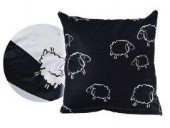 Poszewka na poduszkę BARANKI 50X70 - 100% bawełna, wz. czarno-białe