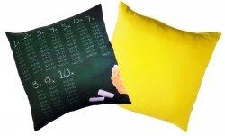Poduszka matematyczna 40x40 wz. 02/żółty
