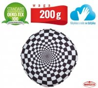 Poduszka dekoracyjna - czarno-biała szachownica