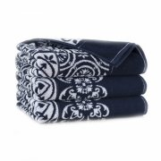 Ręcznik frotte ENRICA 70x140 kolor granatowy