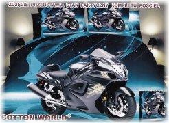 Pościel Mikrowłókno 3D MOTO roz. 160x200 lub 140x200wz. FPW 146