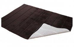 Dywanik łazienkowy prążki - antypoślizgowy 50x70 wz. P23 ciemny brąz