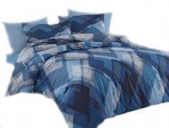 Pościel bawełniana Premium DARYMEX kolekcja Exclusive 200x220, 200x200 lub 180x200 + 2x70x80 wz. Mosaic Blue