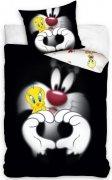 Pościel licencyjna Warner Bros 100% bawełna 160x200 lub 140x200 - Looney Tunes wz. LT182094