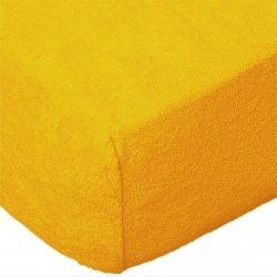 Grube Prześcieradło FROTTE 180x200 na gumkę wz. 004 żółty