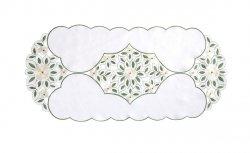 Wiosenny Obrus Haftowany GRACJA LGS 60x120 kolor: biały