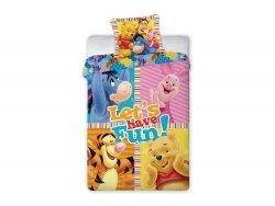 Pościel licencyjna Disney 100% bawełna 160x200 lub 140x200 Kubuś puchatek wz. 039