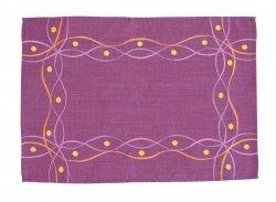 Obrus Haftowany Bruna 58-1 85x85 cm kolor: fioletowy
