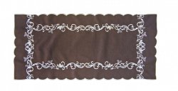 Obrus Haftowany Bruna 57-1 90x150 cm kolor: odcień brązowego