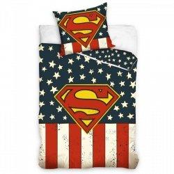 Pościel licencyjna 100% bawełna 160x200 lub 140x200 -  SuperMan - SUP163014