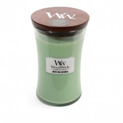 Świeca zapachowa WoodWick - White Willow Moss - Duża świeca