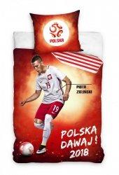 Pościel sportowa licencyjna 100% bawełna 160x200 lub 140x200 - Piotr Zieliński wz. PZPN173073