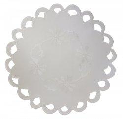 Obrus Haftowany FIONA 6311 30cm kolor: biały