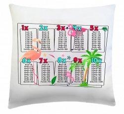 Poduszka matematyczna 40x40 wz. 3 Flamingi
