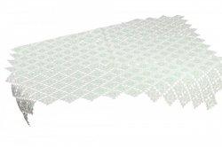 Obrus Gipiura 588 rozmiar: 85x85 Kwadrat kolor: Biały