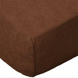 Grube Prześcieradło FROTTE 140x200 na gumkę wz. 030 czekoladowy