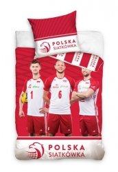 Pościel sportowa licencyjna 100% bawełna 160x200 lub 140x200 - Polska Siatkówka - wz. PZPS181001