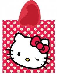 Ręcznik kąpielowy poncho 60x120 - Hello Kitty