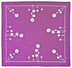 Obrus Haftowany  85x85 cm wz. 1365 kolor fioletowy
