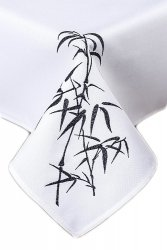 Obrus Haftowany Bruna 463 50x100 cm kolor: biały