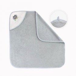 Ręcznik kąpielowy z kapturkiem 90x90  Sowa platynowy