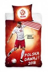 Pościel sportowa licencyjna 100% bawełna 160x200 lub 140x200 - Łukasz Piszczek wz. PZPN173070