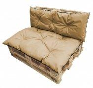 Komplet poduszek ogrodowych na palety 120x80 + 120x40 wz. Beż