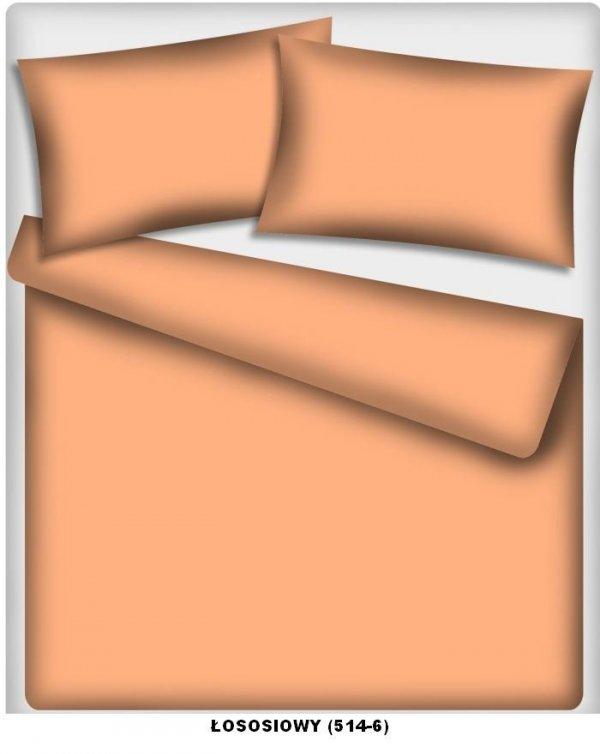 Poszewka kolorowa jedolita , poszwa 70x80, 100% bawełna ITAKA zapięcie na zamek wz. łososiowy