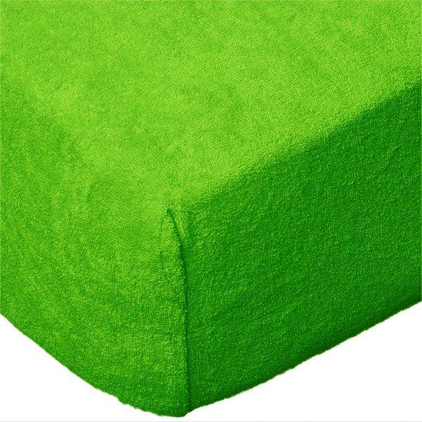 Grube Prześcieradło FROTTE 220x200 na gumkę wz. K21 zielony