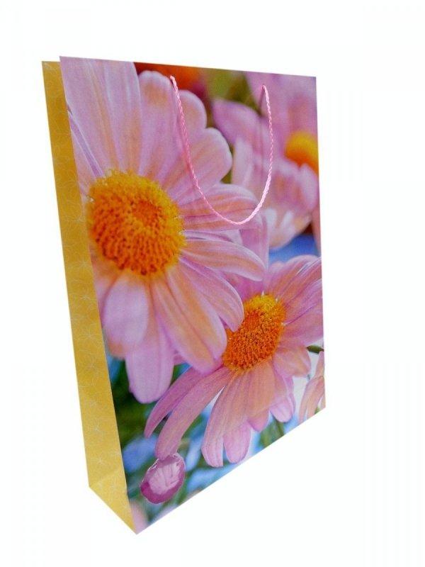 Ozdobne opakowanie, torebka na prezent 15x15 wz. Torba Kwiat 01