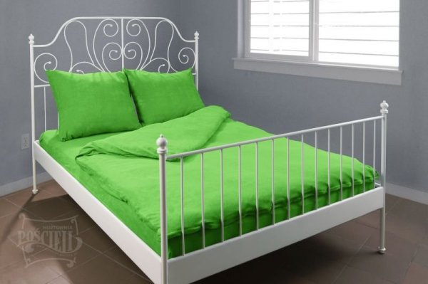 Pościel Frotte wz. 21 zielony rozmiar 160x200