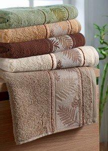 Ręcznik Bambusowy -  70x140 Tropical  OLIWKOWY